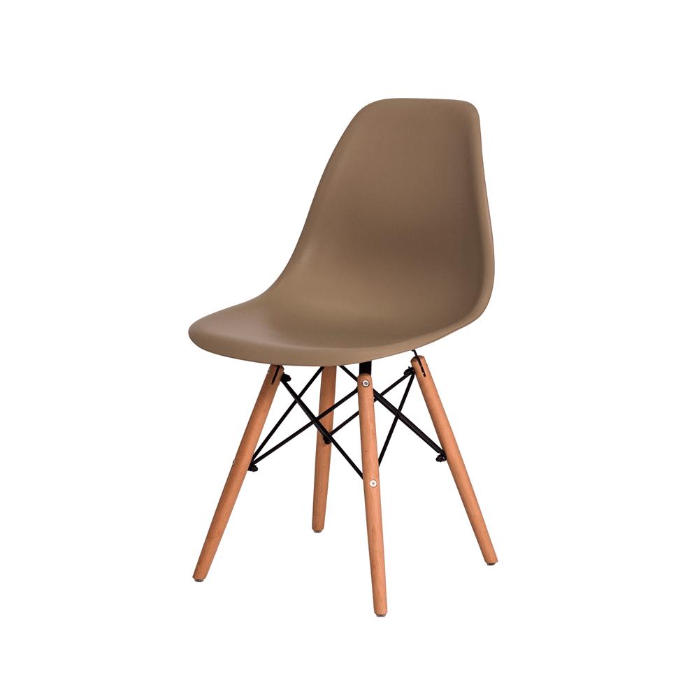 Cadeira Charles Eames Eiffel Nude Base Madeira