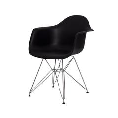 Cadeira Eiffel Eames com Braço na cor preta