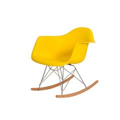 Cadeira Charles Eames Eiffel Balanço com braço Amarela