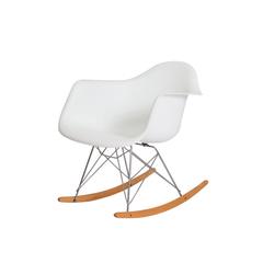 Cadeira Charles Eames Eiffel Balanço com braço Branca