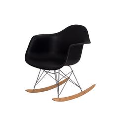 Cadeira Charles Eames Eiffel Balanço com braço Preta