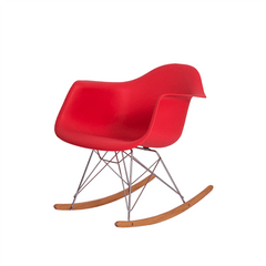 Cadeira Charles Eames Eiffel Balanço com braço Vermelha