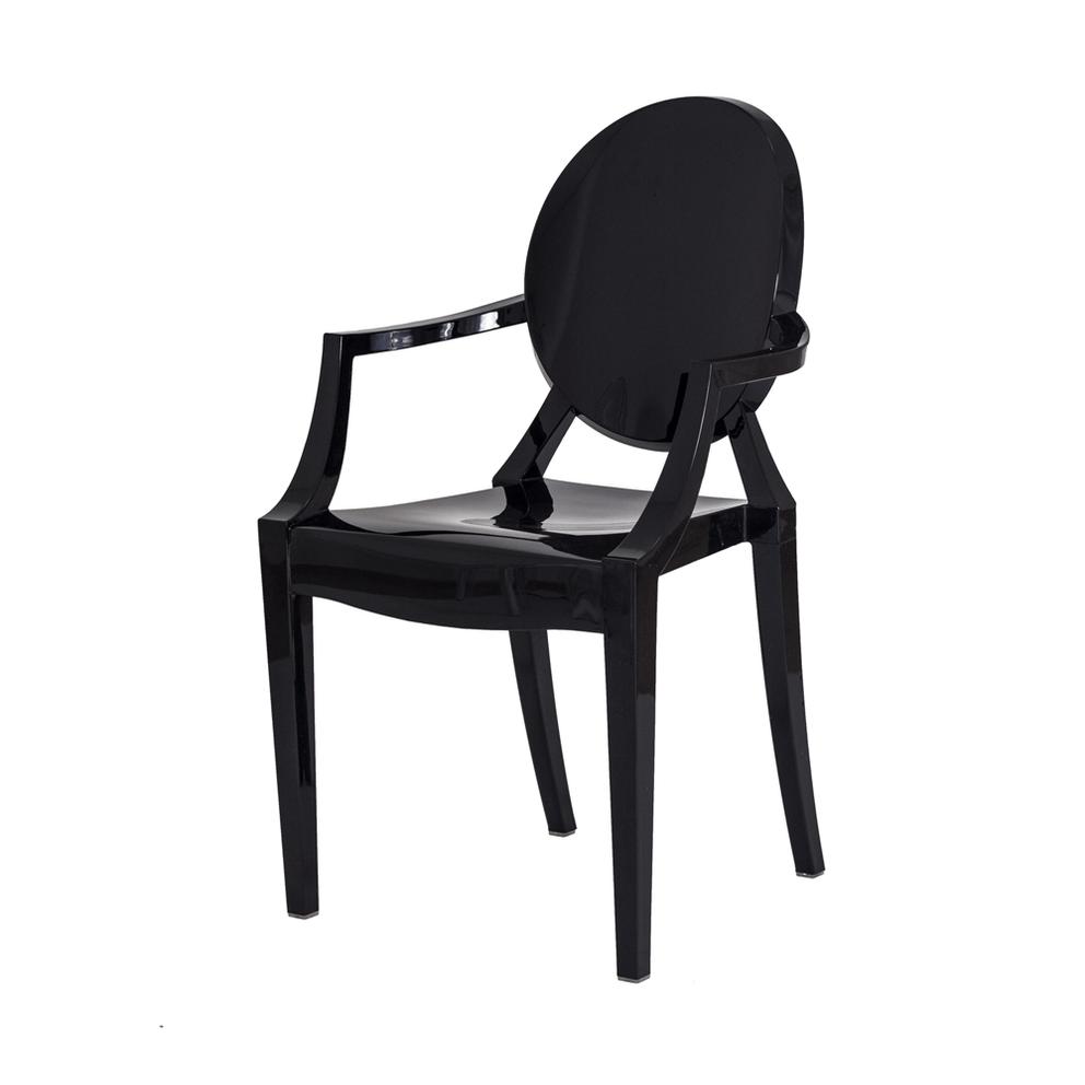 Cadeira Louis Ghost Preta Sólida