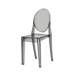Cadeira Victoria Ghost Preta Translúcida