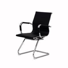 Cadeira Escritório Interlocutor Stripes Fixa PU Preta