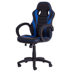 Cadeira Gamer FX Racer PU Preta e Azul