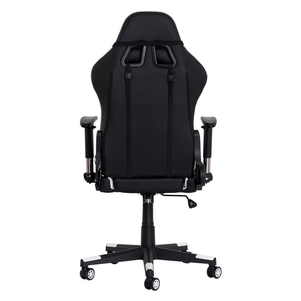 Cadeira Gamer II Reclinável 180º Giratória Preta com Branco