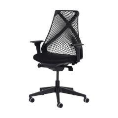 Cadeira Ergonômica Escritório Grid Diretor Preta
