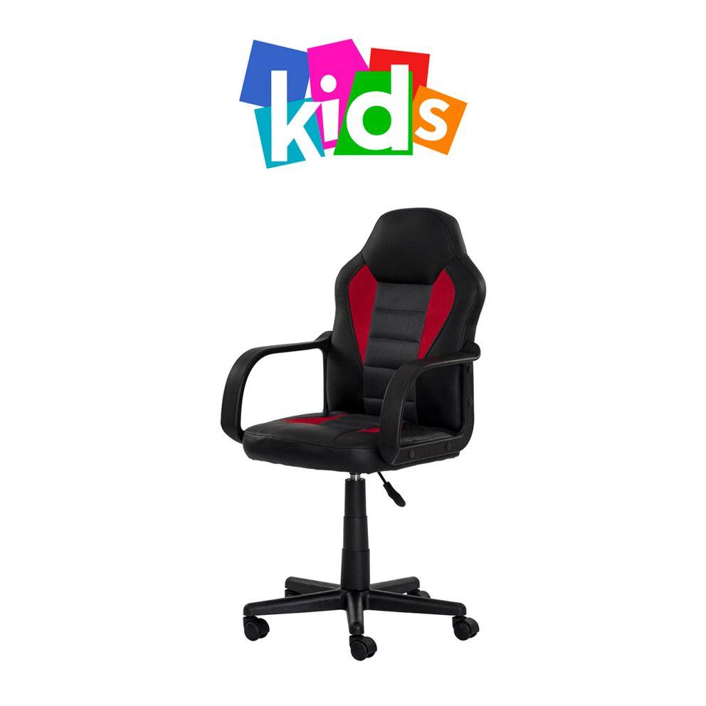 Cadeira Gamer Infantil preta com vermelho