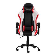 Cadeira Gamer Racer II Preta, branca e vermelha